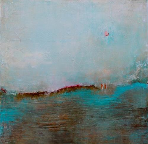Birgit Dierker, Unterhaltung in türkis, Abstract art, Landscapes, Non-Objectivism [Informel], Expressionism