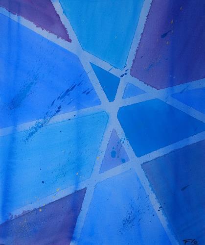Florian Freimann, Blue, Abstract art, Decorative Art, Colour Field Painting