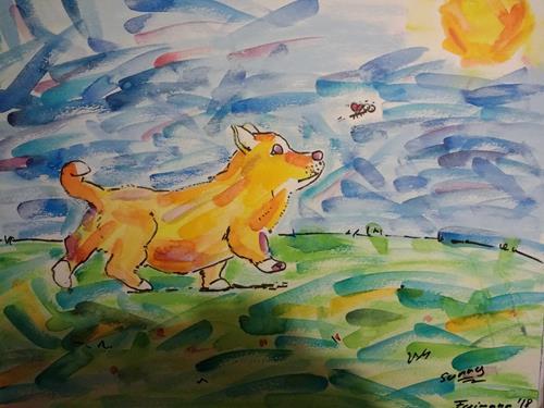 Florian Freimann, Sunny, Animals: Land, Emotions: Joy, Art Déco