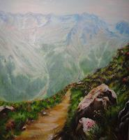 Hobbykunst-Landscapes-Mountains-Nature-Earth-Modern-Age-Naturalism