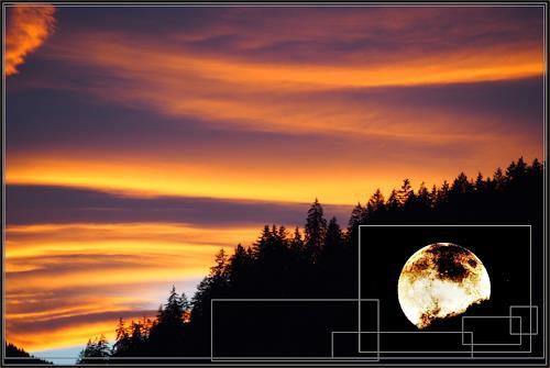 Klaas Kriegeris, burning Sky, Landscapes: Autumn, Photo-Realism