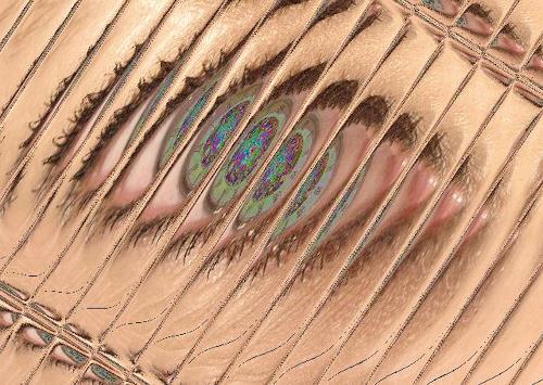 Klaas Kriegeris, Das Auge meines Schatzes, Abstract art, Photo-Realism