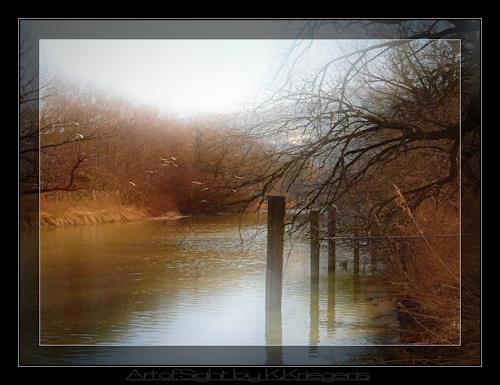 Klaas Kriegeris, alter Rhein, Nature: Water, Landscapes: Autumn, Romanticism, Expressionism