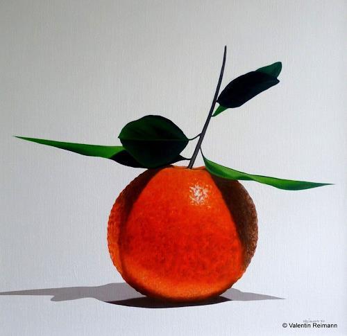 Valentin Reimann, Stilleben mit Frucht, Still life, Meal, Realism, Abstract Expressionism