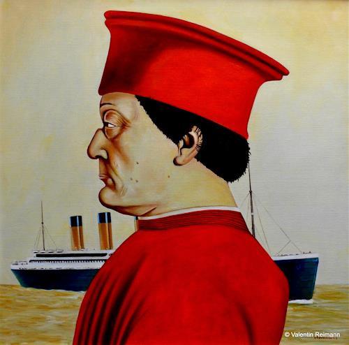 Valentin Reimann, Ein Herr der Renaissance und der Untergang, History, Landscapes: Sea/Ocean, Realism, Abstract Expressionism