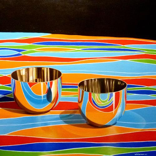 Valentin Reimann, Zwei Schalen, Miscellaneous, Miscellaneous, Realism, Abstract Expressionism
