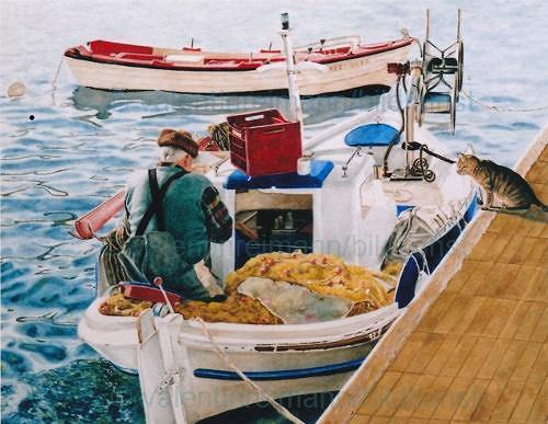 Valentin Reimann, !... Fish, Landscapes: Sea/Ocean, People: Men, Realism, Expressionism