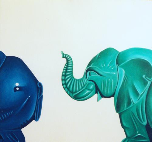 Valentin Reimann, Drei Elefanten, Animals: Land, Animals: Land, Realism