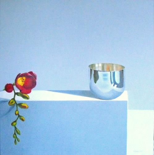 Valentin Reimann, Blume, Still life, Decorative Art, Realism, Expressionism