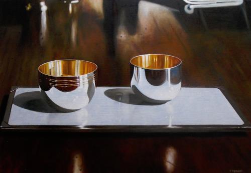 Valentin Reimann, Zwei Schalen, Decorative Art, Still life, Realism