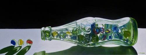 Valentin Reimann, Glasflasche, Decorative Art, Still life, Realism, Expressionism