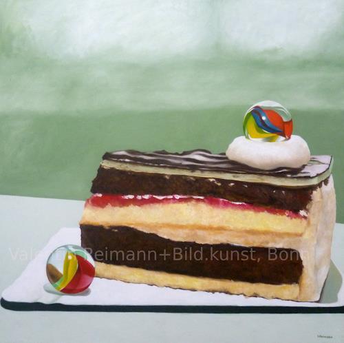 Valentin Reimann, Kugelhupf, Still life, Meal, Realism