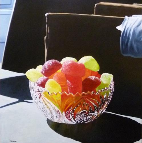 Valentin Reimann, Geleefrüchte, Still life, Meal, Realism