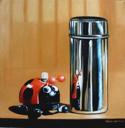 Valentin Reimann, Begegnung, Still life, Realism, Expressionism