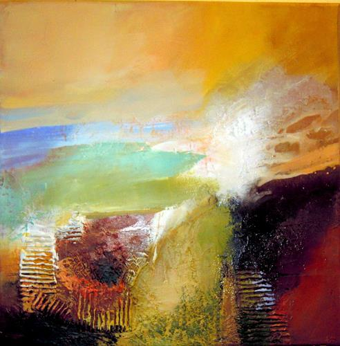 Ingrid Kainz, Ein schöner Tag, Abstract art, Miscellaneous Landscapes, Abstract Art