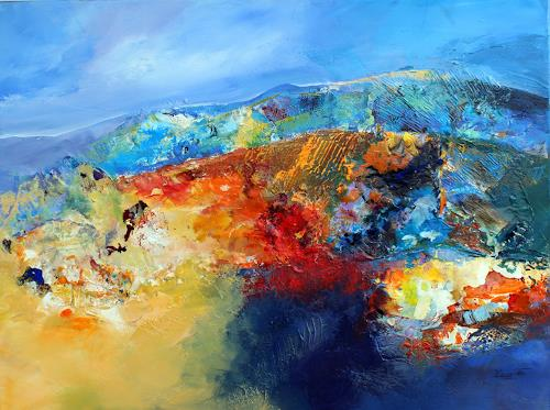 Ingrid Kainz, Bunte Gebirgswelt, Abstract art, Landscapes: Mountains, Abstract Art