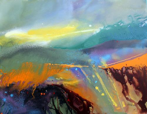 Ingrid Kainz, Steirische Weinlandschaft 1, Miscellaneous Landscapes, Abstract Art