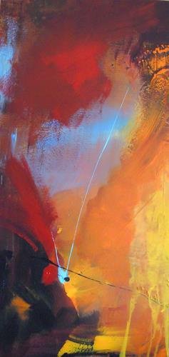 Ingrid Kainz, Sternschnuppe, Abstract art, Abstract art, Abstract Art