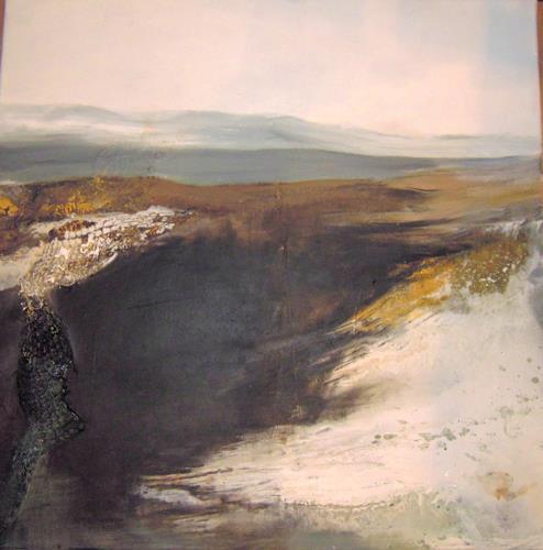 Ingrid Kainz, Gletscher 1, Abstract art, Land-Art