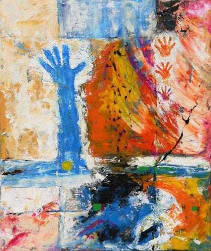 born2paint, Die Blaue Hand, Abstract art
