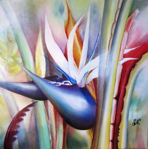 Gudrun, G. Nold, Lopesan/2, Plants: Palm, Nature, Contemporary Art, Expressionism