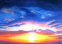 Gudrun--G.-Nold-Romantic-motifs-Sunset-Contemporary-Art-Contemporary-Art