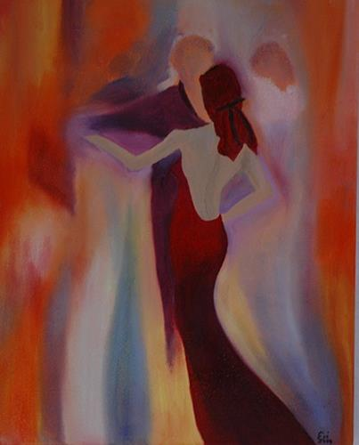 Eri-Art, lady in red, Movement, Society, Romanticism