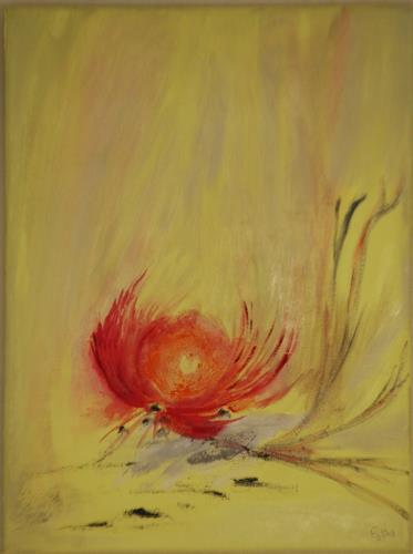 Eri-Art, Feuerblume, Abstract art, Landscapes: Summer, Abstract Art