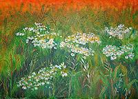 Frank-Ziese-Landscapes-Summer-Miscellaneous-Plants-Modern-Age-Impressionism