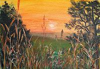 Frank-Ziese-Romantic-motifs-Sunset-Miscellaneous-Landscapes-Modern-Age-Impressionism
