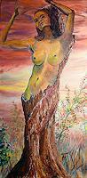 Frank-Ziese-Erotic-motifs-Female-nudes-Plants-Trees-Modern-Age-Impressionism