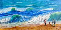 Frank-Ziese-People-Children-Landscapes-Sea-Ocean-Modern-Age-Impressionism