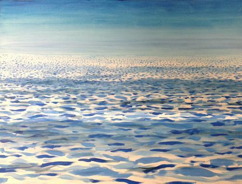 Sebastian Burckhardt, Sea Light Waves, Nature: Water, Landscapes: Sea/Ocean, Contemporary Art, Expressionism