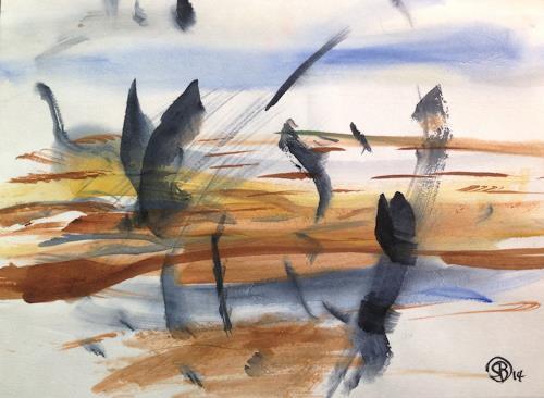 Sebastian Burckhardt, Around a Pond, Harvest, Landscapes: Summer, Contemporary Art, Expressionism