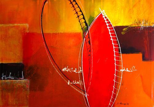 Sabine Hampp, Spiegelungen, Abstract art, Abstract Art, Expressionism