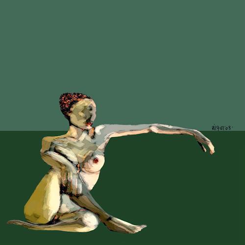 bohemiogus, s.t., Erotic motifs: Female nudes, Erotic motifs: Female nudes, Romanticism, Abstract Expressionism
