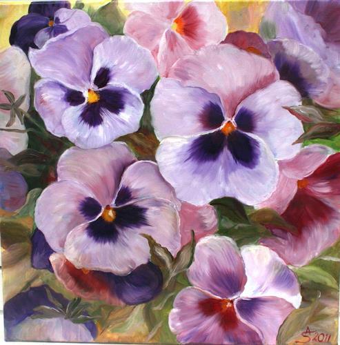 Anett Struensee, Stiefmütterchen, Plants: Flowers, Naturalism