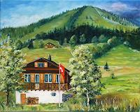 Anett-Struensee-Buildings-Houses-Landscapes-Mountains-Modern-Age-Naturalism