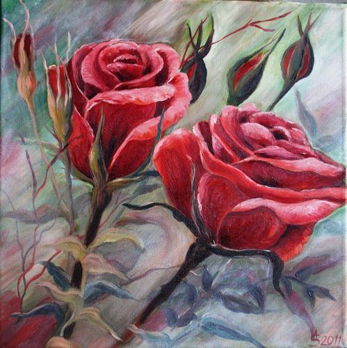 Anett Struensee, Rosen, Decorative Art, Plants: Flowers, Abstract Art