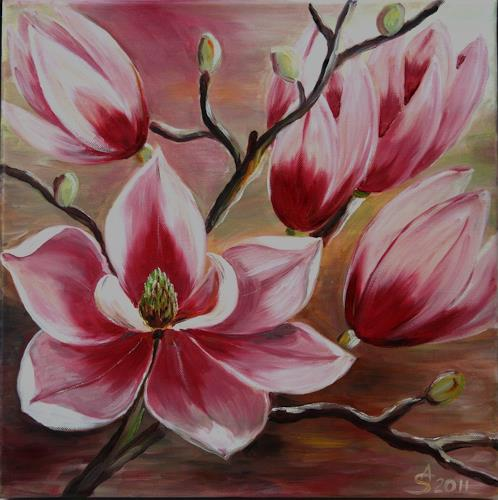 Anett Struensee, Magnolien, Plants: Flowers, Decorative Art