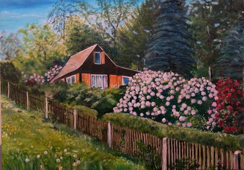 Anett Struensee, Kriebstein, Landscapes: Spring, Naturalism, Expressionism