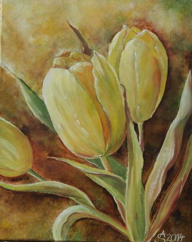Anett Struensee, gelbe Tulpen, Plants: Flowers, Naturalism