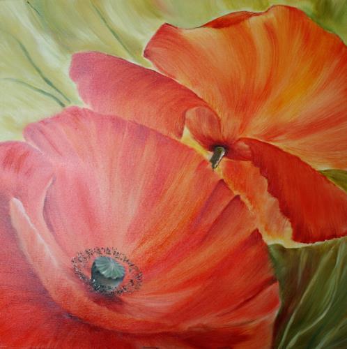 Anett Struensee, Mohn, Plants: Flowers, Naturalism
