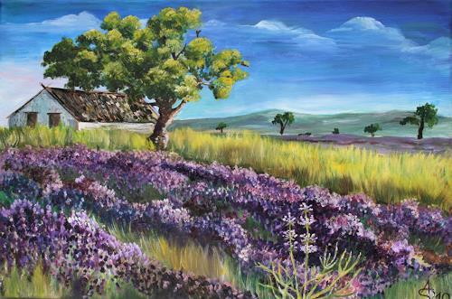 Anett Struensee, Lavendel, Landscapes: Summer, Miscellaneous Plants, Naturalism