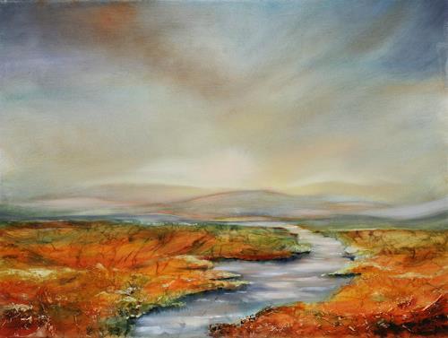 Anett Struensee, Spätsommer, Landscapes: Summer, Nature: Water, Naturalism, Expressionism