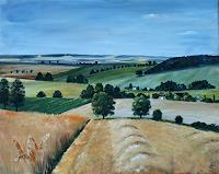 Anett-Struensee-Landscapes-Summer-Harvest-Modern-Age-Naturalism