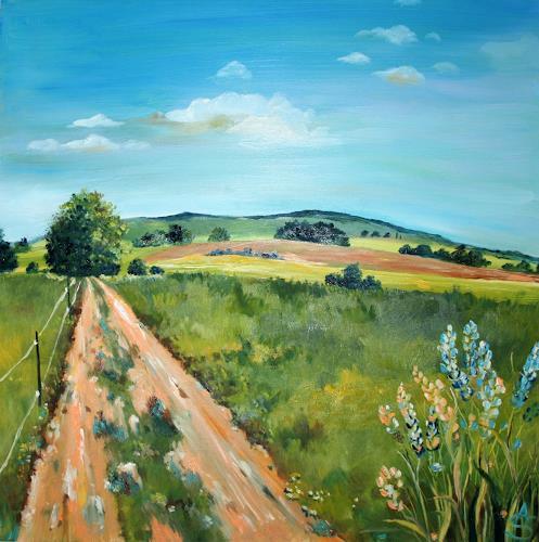 Anett Struensee, Auszeit (Limbach-O.), Landscapes: Plains, Landscapes: Summer, Naturalism, Expressionism