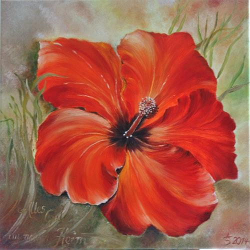 Anett Struensee, Momentaufnahme, Plants: Flowers, Naturalism, Expressionism