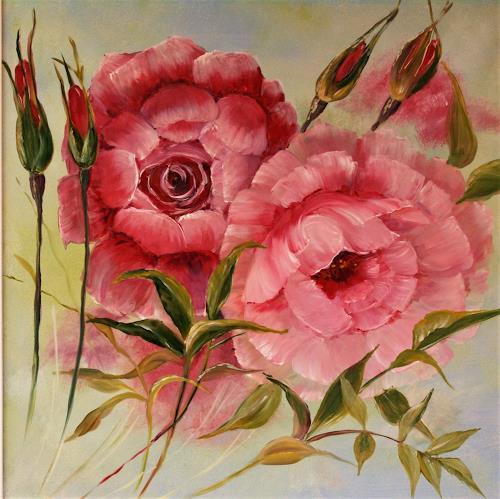 Anett Struensee, zarte Rosen, Plants: Flowers, Emotions: Love, Naturalism