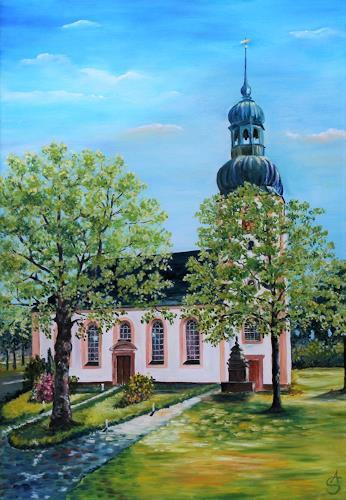 Anett Struensee, Johanniskirche, Landscapes: Spring, Architecture, Naturalism